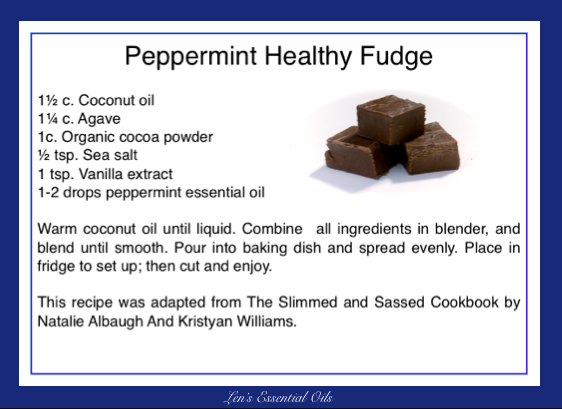 Peppermint Healthy Fudge
