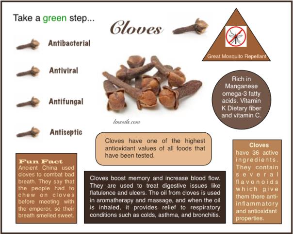 Cloves many uses