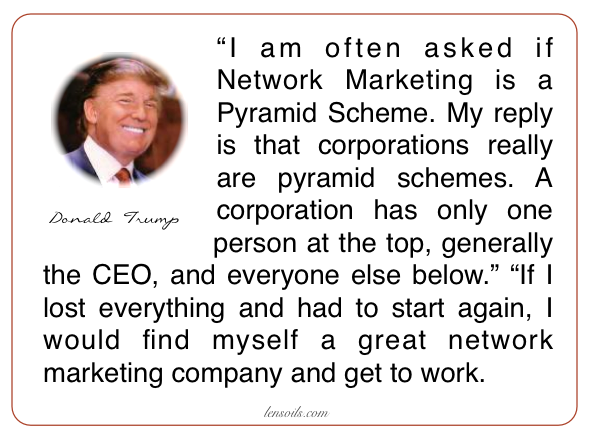 Donald Trump Network marketing
