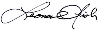 Leonard Fish Signature