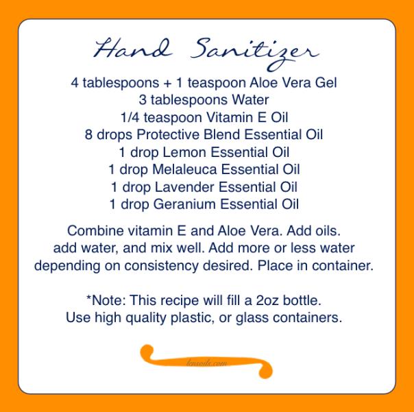 Hand Sanitizer recipie