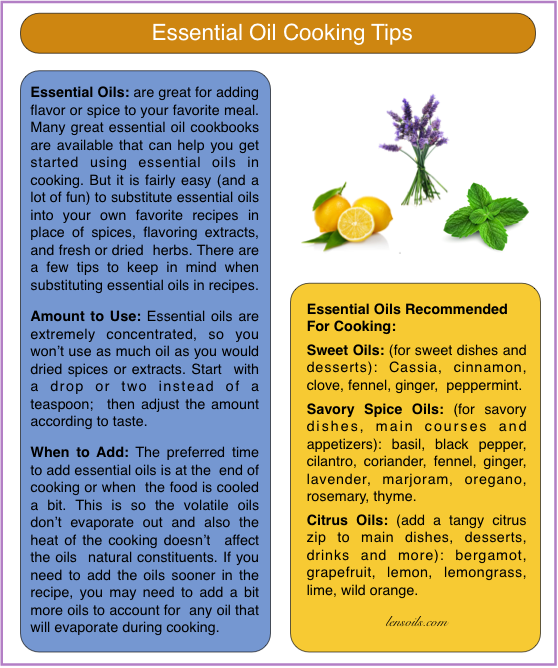 Essential Oil Cooking tips