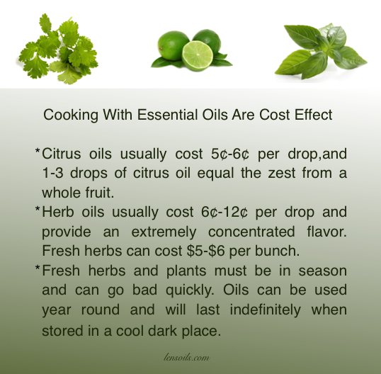 Essential oils are cost effective