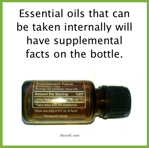 Essential oils taken internally