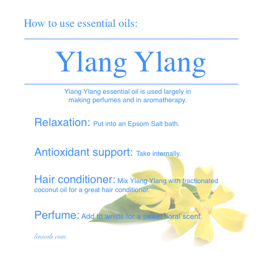 How to use essential oils Ylang Ylang