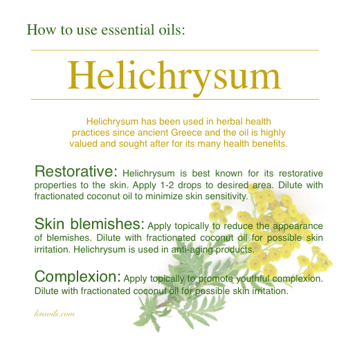 How to use Helichcysum essential oil