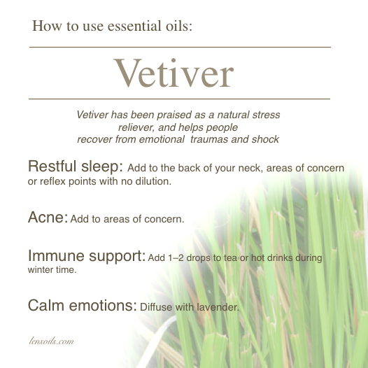 How to use Vetiver essential Oil