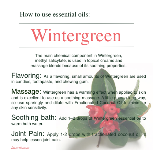 How to use Wintergreen Essential Oil