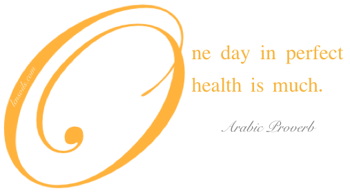 Health Proverb Arabic