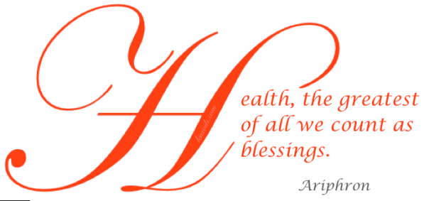 Health Proverb Ariphron