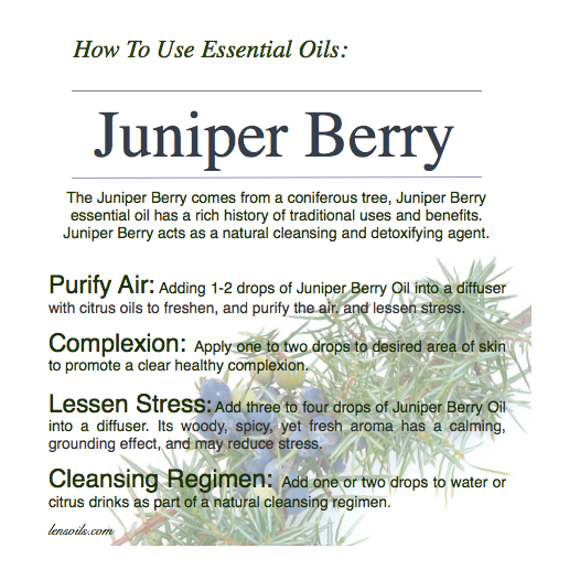 How to use Juniper Berry Essential Oil