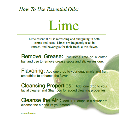 How to Use Lime Essential Oil