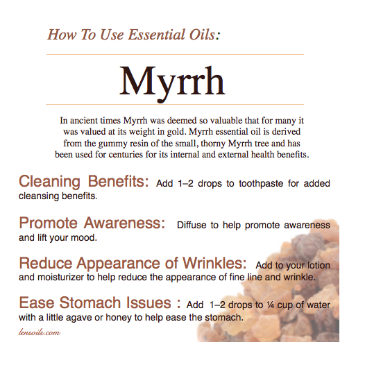 How to Use Myrrh Essential Oil
