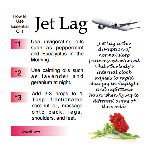 How to use essential oils Jet Lag