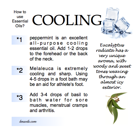 How to Use Essential Oils Cooling