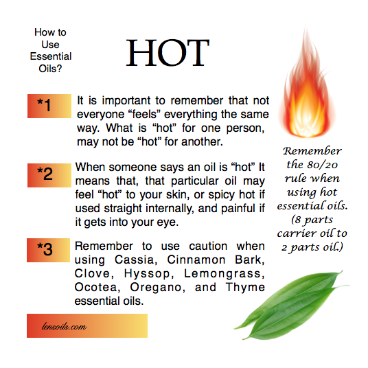 How to use hot essential oils?