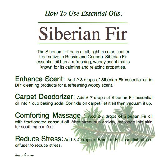 How to use essential oils Siberian Fir
