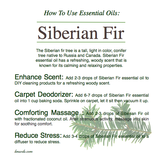 How to use essential oils Siberian Fir