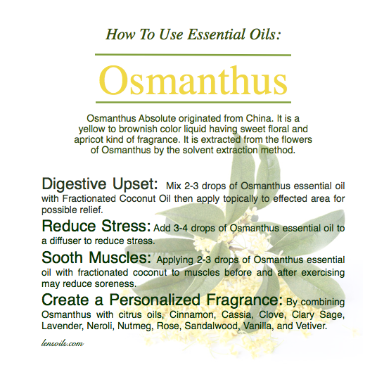 How to Use Osmanthus Essential Oil