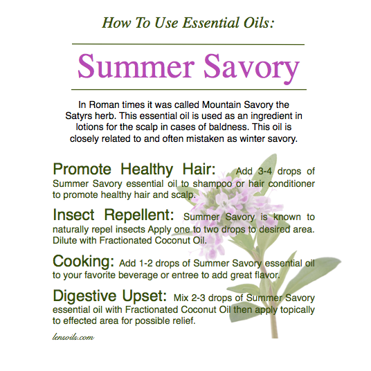 How to Use Summer Savory Essential Oil