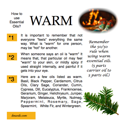 How to use warm essential oils