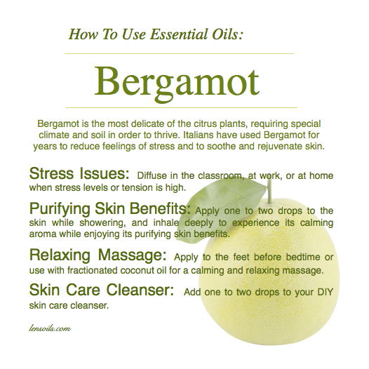 how to use bergmot essential oil